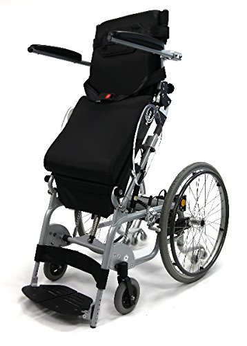 Karman Healthcare XO-101N XO-101 16' Manual Push-Power Assist Stand Wheelchair & FREE OPCTM Gray Medical Utility Bag