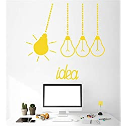 colaru Wall Decal Sticker Art Mural Home Decor Quote Light Bulbs Idea Funny for Offic Inspirational