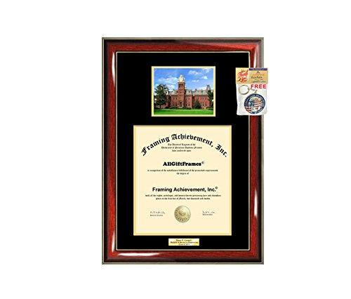 WVU Diploma Frame West Virginia University School Campus Photo Graduation Degree Double Mat Framing Document Graduation Gift Bachelor Master MBA Doctorate PHD Best