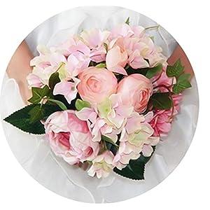 mamamoo Pink Wedding Bouquet Wedding Flowers Bridal Bouquets Bridesmaid buque Noiva for Wedding Accessories 91