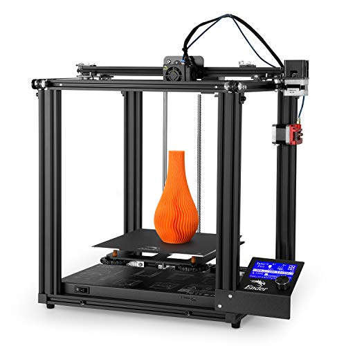 Official Creality Ender 5 Pro 3-D Printer with Upgrade Silent Mainboard All Metal Extruder Frame Capricorn Bowden PTFE Tubing C-Magnet Build Surface Plate 220 x 220 x 300mm