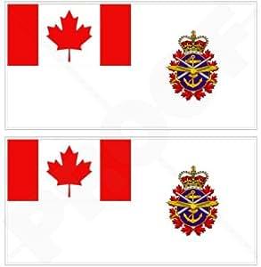 """Canadá Canadiense Bandera de las Fuerzas Armadas Ensign CF Bumper pegatinas, adhesivos de vinilo de 4,3""""(110mm) x2"""