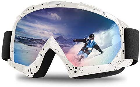 Tsuinz Ski Goggles, Snowboard Goggles 100 UV Protection Windproof Scratch Resistant Ski Goggles for Skiing, Snowboarding, Motorcycling, Winter Outdoor Men Women