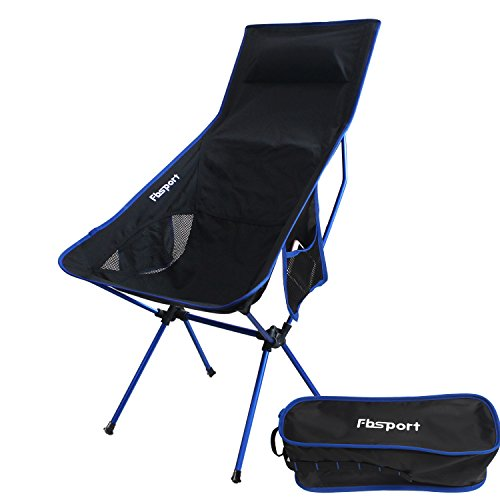 Price comparison product image FBSPORT Lightweight Folding Camping Backpack Chair, Compact & Heavy Duty Portable Chairs for Hiking Picnic Beach Camp Backpacking Outdoor Festivals (Lounge camping -Dark Blue)