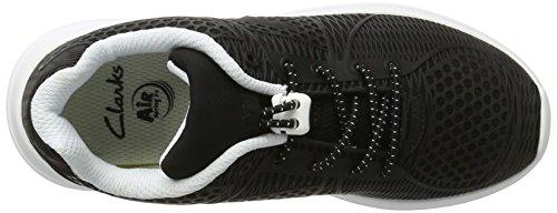 Clarks Jungen SprintLane Jnr Sneaker Schwarz (Black)