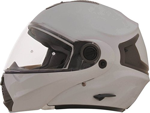 AFX FX-36 Unisex-Adult Flip-Up-Helmet-Style Modular Helmet (Silver, Small)