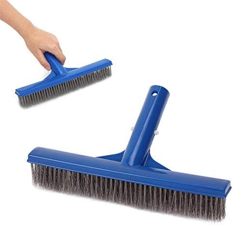 """Schwimmbad Wandfliesen Pinsel,13"""" Drahtbürstenkopf Reinigungsbürste Kopf für die Reinigung von Wänden,Fliesenböden, Fischteich Aluminium Brush Tool"""