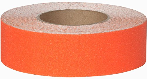 Safe Way Traction 2'' X 60' Foot Roll of Safety Orange Adhesive Anti Slip Non Skid Abrasive Tape 3320-2 by Safe Way Traction