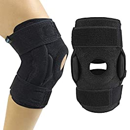 Vive Hinged Knee Brace – Open Patella Support Wrap for Women, Men – Compression for ACL, MCL, Torn Meniscus Ligament and…