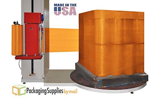 Dark Orange Color Cast Machine Stretch Wrap Film 20'' x 5000 Feet x 63 Gauge 1 Roll by PackagingSuppliesByMail
