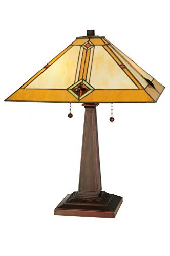 22 Inch H Diamond Mission Table Lamp , Table Lamps , Meyda