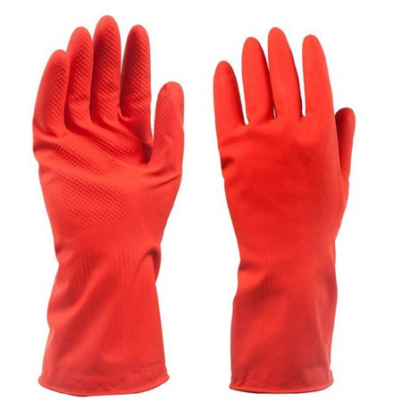 World 2 Home 1 Pair Winter Dish Washing Glove Wear Plus Cashmere Soft Waterproof Rubber Gloves Household Cleaning Warm Hands Wearing sale