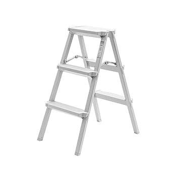 AYHa Ladder Step Stool Taburete plegable blanco, mini espacio ...
