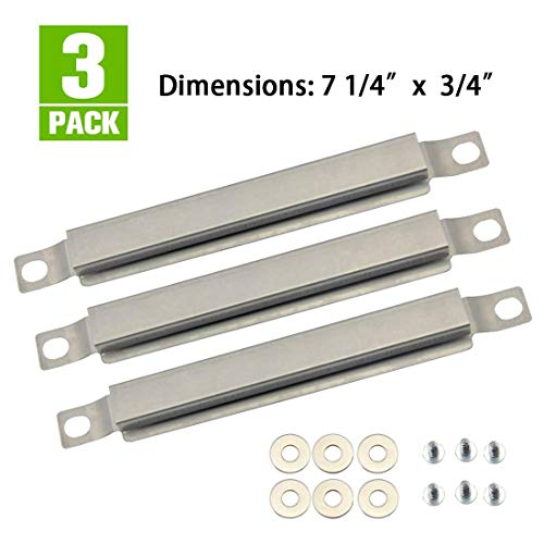 BBQ-Element Grill Crossover Burner Replacement Parts for Charbroil 463436215, 463441514, 463268107, 463436214, 463433016, Set of 3 Stainless Steel Carryover Tube for Thermos, Kenmore, Master Chef.