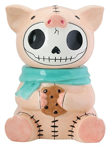Furrybones Pink Piggy Bacon Ceramic Cookie Treat Jar