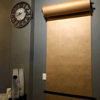 Abridged Edition Kraft Paper Roller Reusable Wall Mounted Kraft