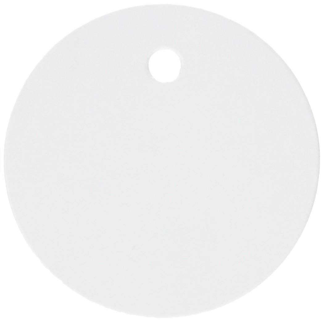 White AC0566 Hampton Art Deco Tags 20//Pkg-Round