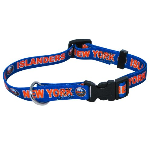 Hunter Mfg. LLP NHL New York Islanders Adjustable Pet Collar, Team Color, Large