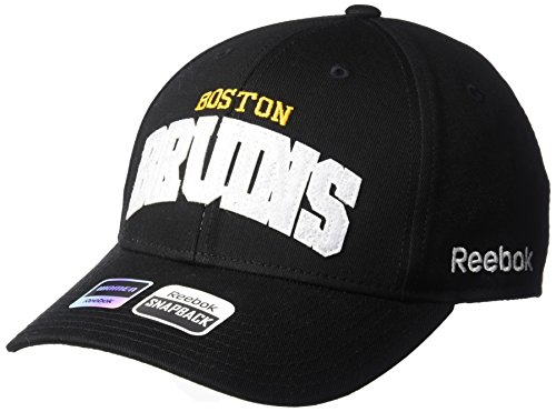NHL Boston Bruins Women's SP17 Sequenced Structured Adjustable Cap, Black, One Size ()