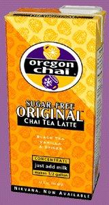 Oregon Chai Tea Concentrate Sugar Free Original Flavor, 1 Quart - 3 Cartons -