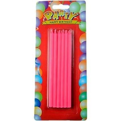 Pink Geburtstag Kerzen Set Lang,12stk: Amazon.es: Juguetes y ...