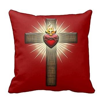 Amazon.com: Sagrado Corazón de Jesús Cruz tirar funda de ...