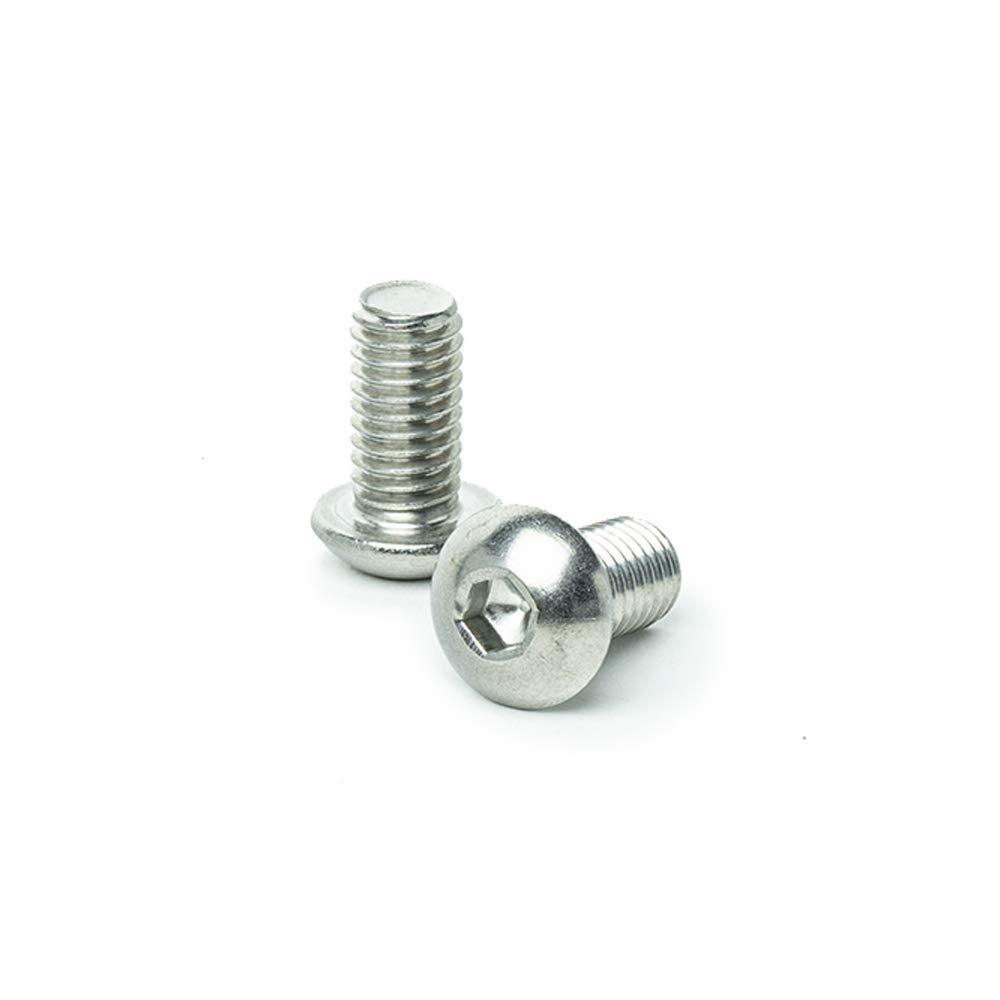 "Full Thread 3//8-16 x 1/"" Button Head Socket Cap Screws Bright Finish Machine Thread Stainless Steel 18-8 Allen Socket Drive Quantity 10 by Bridge Fasteners"