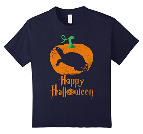 Kids PAINTED TURTLE in Pumpkin Happy Halloween T-shirt Vintage 12 (Painted Halloween Pumpkins Ideas)