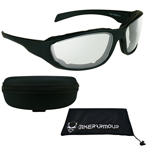 Transition Motorcycle Glasses with Photochromic CLEAR to DARK - Motorcycle Glasses Transition