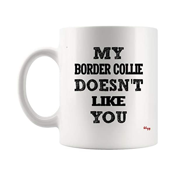 Sarcastic Mug - Funny Team Cup Coffee Mugs Border Collie Doesnt Like You Best | Thoughtful T-Shirt Gift 1
