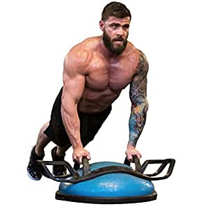 Helmfit The Helm Core Fitness Strength Training System - Multi Grip Push Up and Plank Device for Balance Ball and Stability Ball, Grey