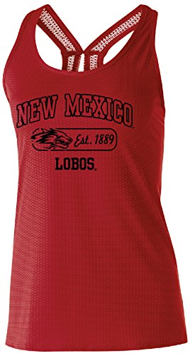 (Ouray Sportswear NCAA New Mexico Lobos Women's Precision Tank, Large, Scarlet)