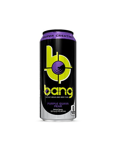 VPX Bang Purple Pear Guava 12 per Case - 16 fl oz (1 PT) 473 ml (Energy Pear)