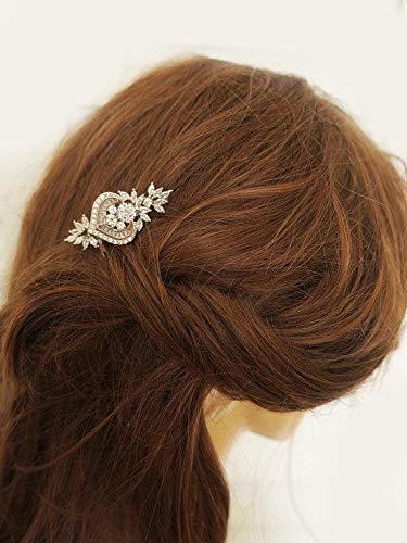 Rose Gold Hair Comb Wedding Bridal Hair Piece