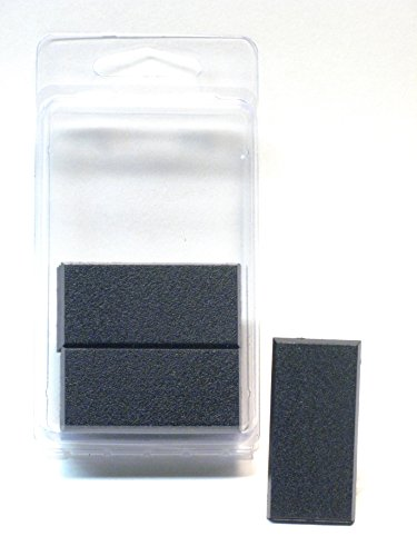 (Hedral Value Pack of 10 - 50MM x 25MM Square Rectangle Black Miniature Model Cavalry Bases for TableTop or Miniature WarGames )