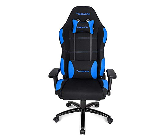 Wood & Style Office Home Furniture Premium Gaming Chair with High Backrest, Recliner, Swivel, Tilt, Rocker & Seat Height Adjustment Mechanisms, 5/10 Warranty - Black/Blue (Hutch Organizer Contemporary)