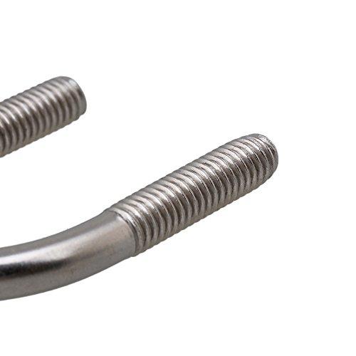 RDEXP 304 Stainless Steel U Bolts U Screws M6 Pack of 5
