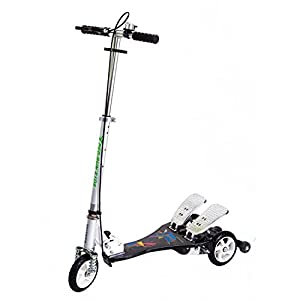Bike Rassine Kid's Ped-Run Dual Pedal Scooter, Black