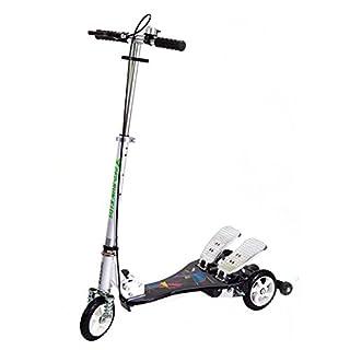 Bicicleta Rassine PRK-BK Scooter de doble pedal Ped-Run para niños, negro, 29 x 11 x 40