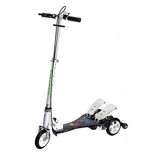 Bike Rassine PRK-BK Kid's Ped-Run Dual Pedal Scooter, Black, 29