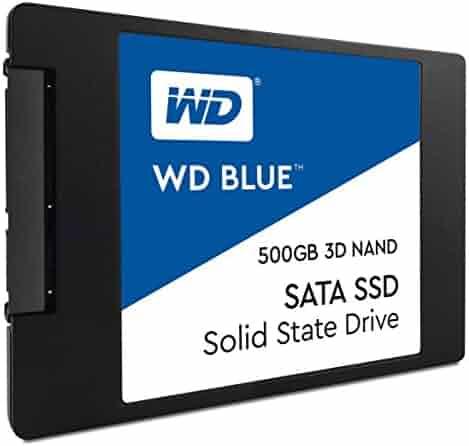 WD Blue 3D NAND 500GB PC SSD - SATA III 6 Gb/s, 2.5