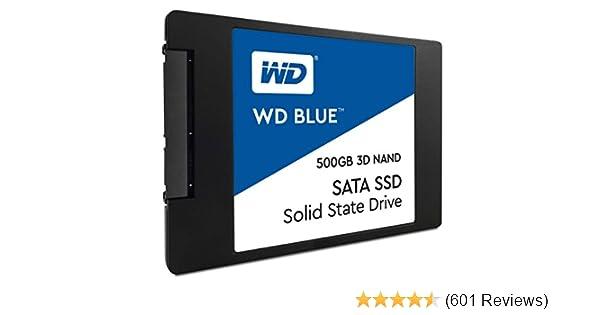 """WD Blue 3D NAND 500GB PC SSD - SATA III 6 Gb/s 2.5""""/7mm Solid State Drive - WDS500G2B0A"""