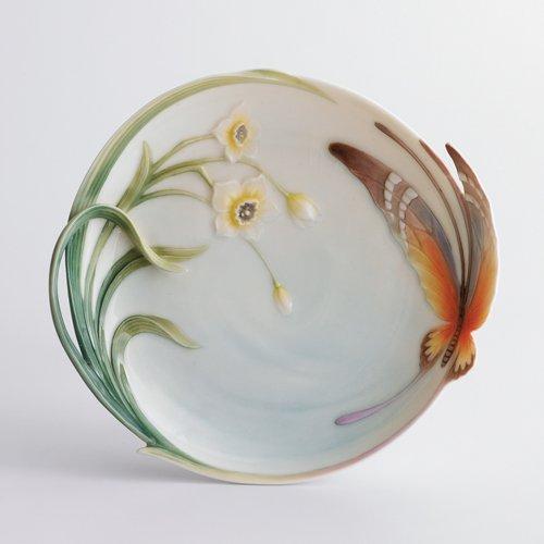 Franz Papillon Butterfly Dessert Plate * Porcelain New Figurine FZ00229