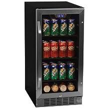 EdgeStar CBR901SG 80 Can 15 Inch Wide Built-In Beverage Cooler - Black/Stainless Steel