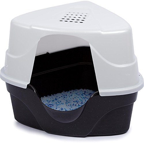 Nature S Miracle Advanced Corner Hooded Cat Litter Box New