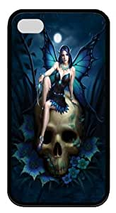 iPhone 4s Case and Cover -Skull Fairy TPU Custom iPhone 4/4S Case Cover Black