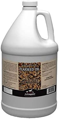 First Companion Flaxseed Oil Omega 3 &6 Fatty Acid Supplement Horse