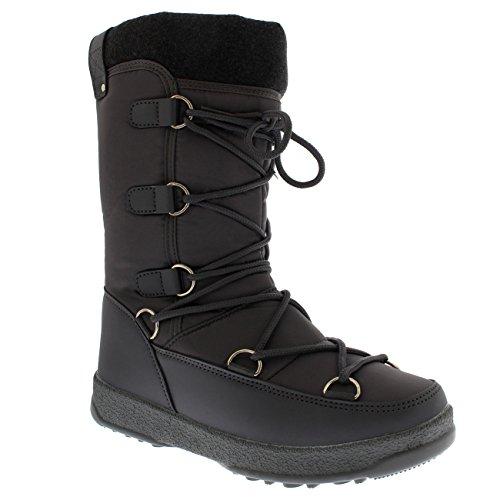Polar Fleece-Thermo-wasserdichte Winter-dauerhafte Schnee-Knie-Stiefel der Produkt-Frauen Grau
