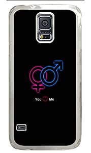 Samsung Galaxy S5 Case,Samsung Galaxy S5 Cases - YOU LOVE ME Custom Design Samsung Galaxy S5 Case Cover - Polycarbonate¨CTransparent