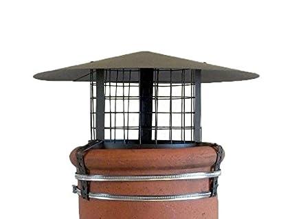 Chimenea olla con cubierta y rejilla de seguridad para aire comprimido 20,32 cm -